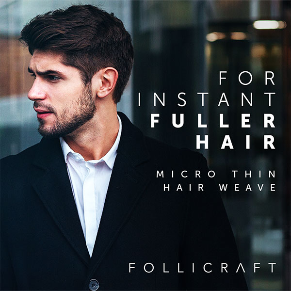 Micro-thin hair weave for instant fuller hair