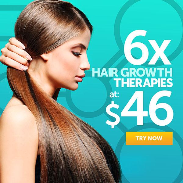6 Hair Growth Therapies at $46