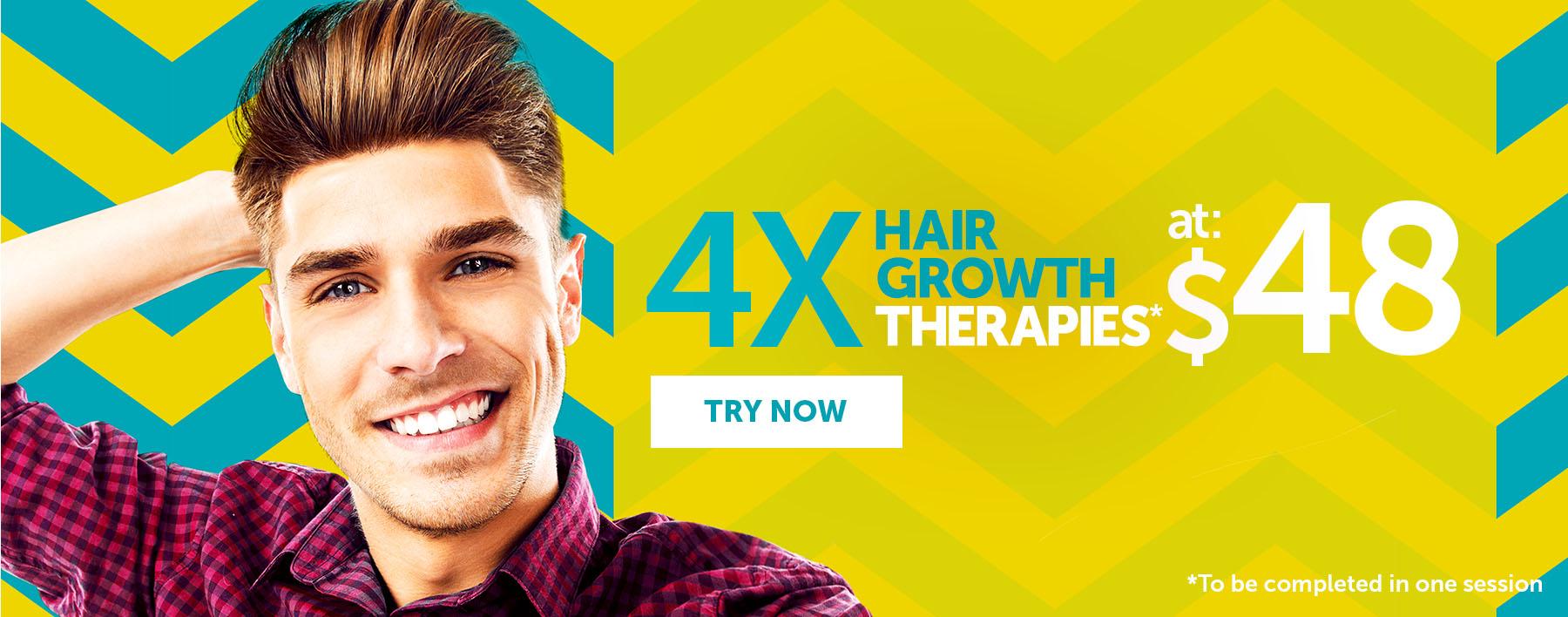 4 Hair Growth Therapies at $48