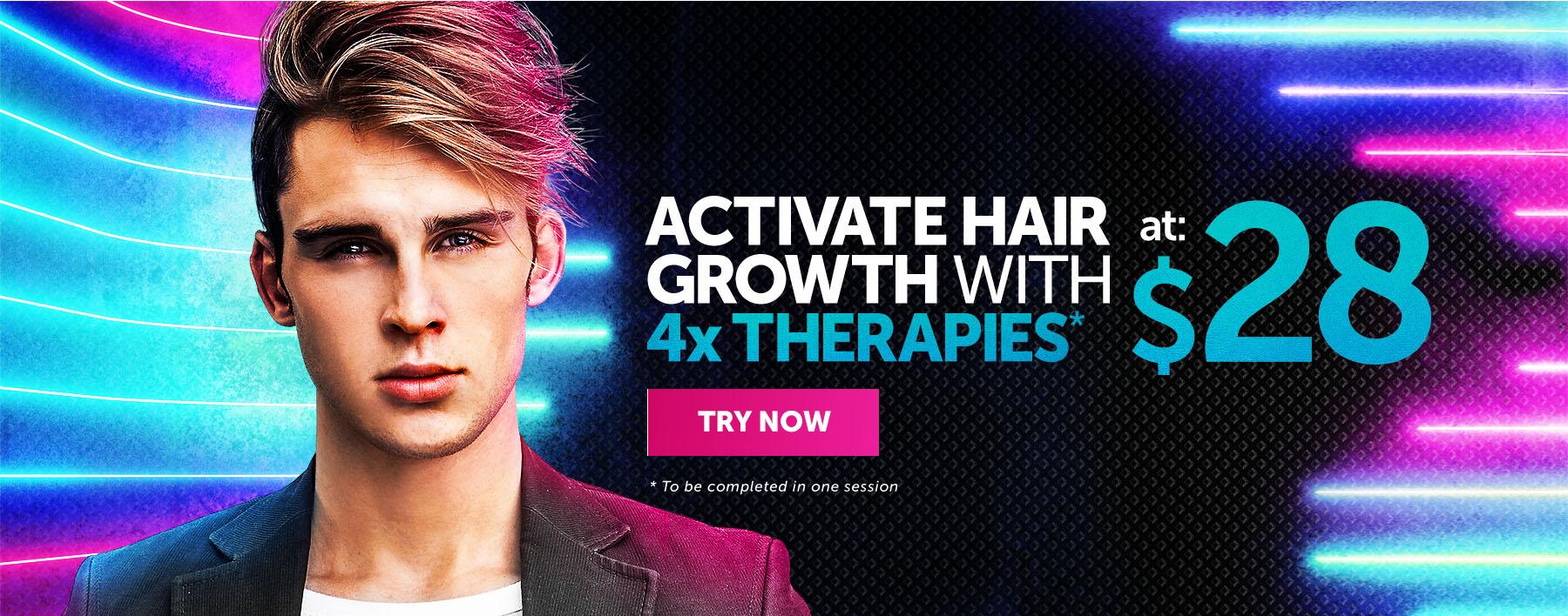 4 Hair Therapies at $28