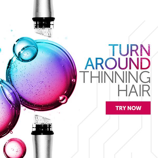 Turn Around thinning hair