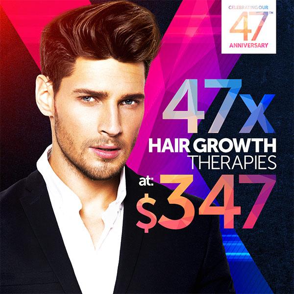 47 Hair Growth Therapies at $347