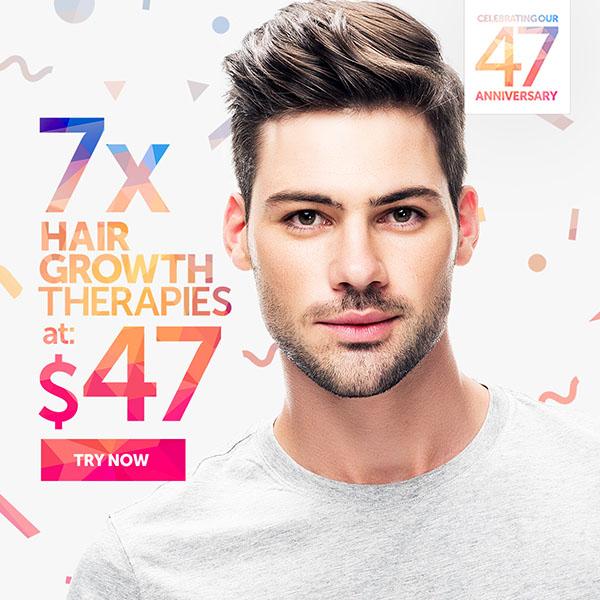 7 Hair Growth Therapies at $47