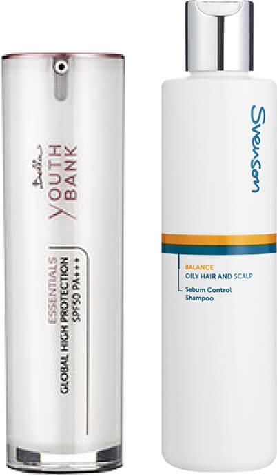 Bella Marie France's Global High Protection SPF 50 PA++ and Svenson's Balance Sebum Control Shampoo
